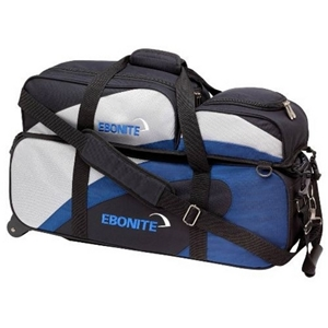 Ebonite Team Ebonite 3 Ball Tote Roller Blue/Silver Bowling Bags