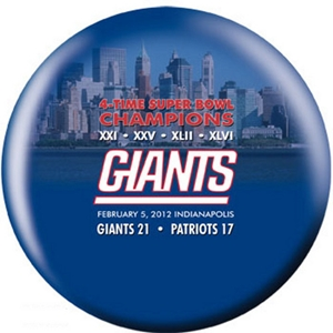 OTB NFL New York Giants Super Bowl XLVI Champions City V2 Bowling Balls