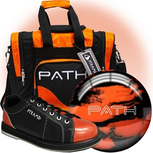 Pyramid Path Orange Ball/Bag/Shoe Package Bowling Combos