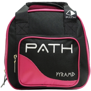 Pyramid Path Plus One Spare Ball Tote Black/Hot Pink Bowling Bags