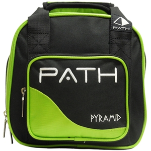 Pyramid Path Plus One Spare Ball Tote Black/Lime Green Bowling Bags