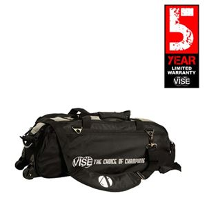 Vise Grip 3 Ball Clear Top Tote Roller Black Bowling Bags