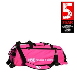 Vise Grip 3 Ball Clear Top Tote Roller Pink Bowling Bags
