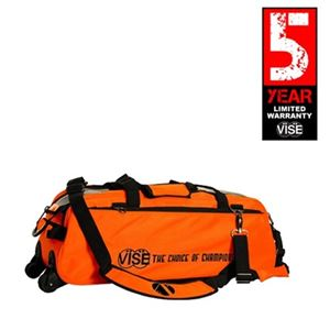 Vise Grip 3 Ball Clear Top Tote Roller Orange Bowling Bags