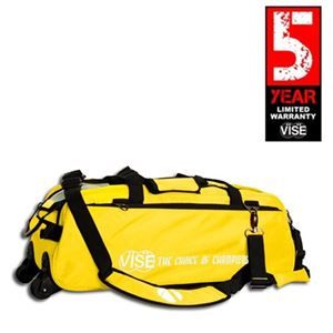Vise Grip 3 Ball Clear Top Tote Roller Yellow Bowling Bags