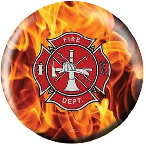 OTB Everyday Heroes Fire Department Yellow Fire Bowling Balls