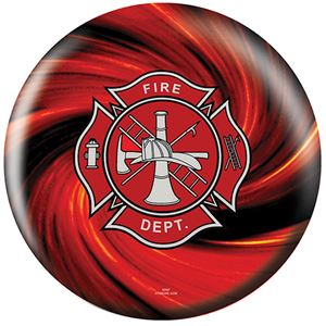 OTB Everyday Heroes Fire Department Red  Bowling Balls