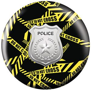 OTB Everyday Heroes Police Department Yellow Tape Bowling Balls