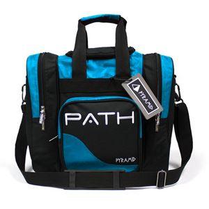 Pyramid Path Pro Deluxe Single Tote Black/Asgard Blue Bowling Bag