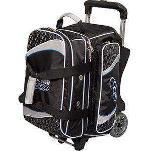 Columbia 300 Team Columbia 2 Ball Roller Black/Silver Bowling Bags