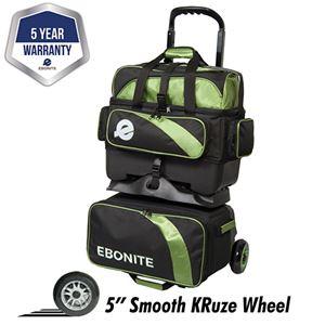 Ebonite Equinox 4 Ball Roller Black/Lime Bowling Bags