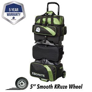 Ebonite Equinox 6 Ball Roller Black/Lime Bowling Bags