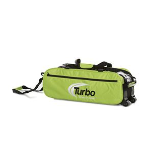 Turbo 2-N-1 Grips 3 Ball Express Travel Tote Lime Green Bowling Bags