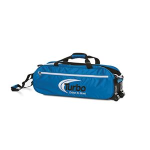 Turbo 2-N-1 Grips 3 Ball Express Travel Tote Blue Bowling Bags