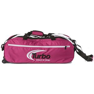 Turbo 2-N-1 Grips 3 Ball Express Travel Tote Pink Bowling Bags