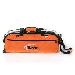 Turbo 2-N-1 Grips 3 Ball Express Travel Tote Orange Bowling Bags