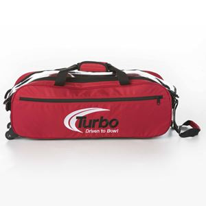 Turbo 2-N-1 Grips 3 Ball Express Travel Tote Red Bowling Bags