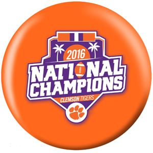 OTB NCAA 2016 Clemson Tigers Football National Champions Bowling Balls