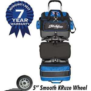 KR Strikeforce Royal Flush 6 Ball Roller Black/Royal Bowling Bags