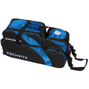 Ebonite Equinox 3 Ball Tote w/Removable Pouch Bowling Bags