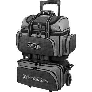 Storm Rolling Thunder 4 Ball Roller Black/Grey Plaid Bowling Bags