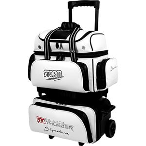 Storm Rolling Thunder 4 Ball Roller Signature White/Black Bowling Bags