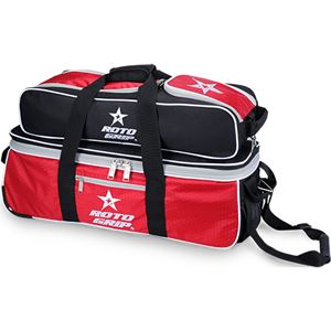 Roto Grip 3 Ball Rolling Tote Black/RedWhite Bowling Bags