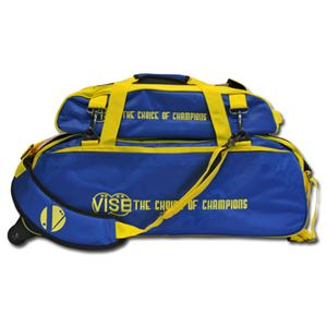 Vise Grip 3 Ball Clear Top Tote Roller Blue/Yellow Bowling Bags