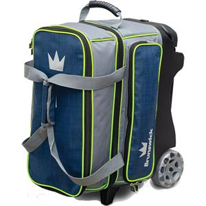 Brunswick Crown Deluxe Double Roller Navy/Lime