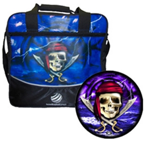 Viz-A-Ball Pirate Skull w Ship Ball with Pirate Single Ball Bag Bowling Combos