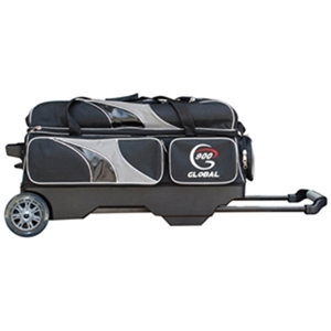 900 Global 3-Ball Deluxe Roller Black/Silver Bowling Bags