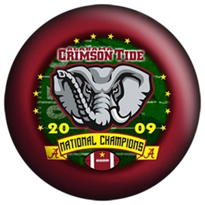 OTB NCAA Alabama Crimson Tide 2009 National Football Champions Bowling Balls