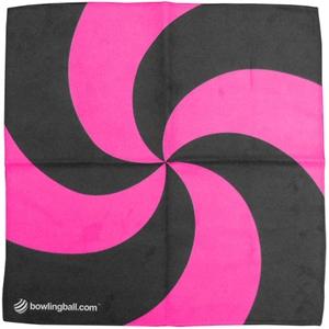 Bowlingball.com Pink Spiral Suede Microfiber Bowling Towel