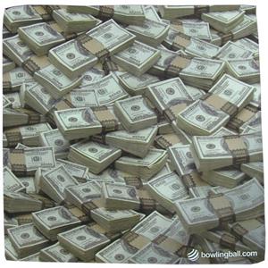 Bowlingball.com Money Suede Cool Microfiber Towel