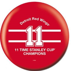 OTB NHL Detroit Red Wings 11 Time Champions Bowling Balls