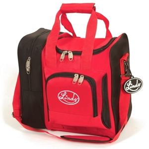 Linds Deluxe Single Ball Tote Black/Red Bowling Bags