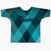 Teal Argyle Grunge Dye-Sublimated Crew Neck