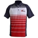 Men's Turbo Sublimated Striped Sport Shirt True Red