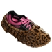 Fun Shoe Covers Fuzzy Leopard