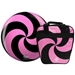 Spiral Pink/Black Viz-A-Ball w/ Bag