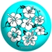 Flower Teal/Black - bowlingball.com Exclusive