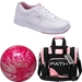 T Zone Pink Ball Bag and Shoe Package
