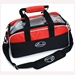 Deluxe Clear Double Tote Black/Red