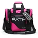 Path Single Deluxe Tote Black/Hot Pink