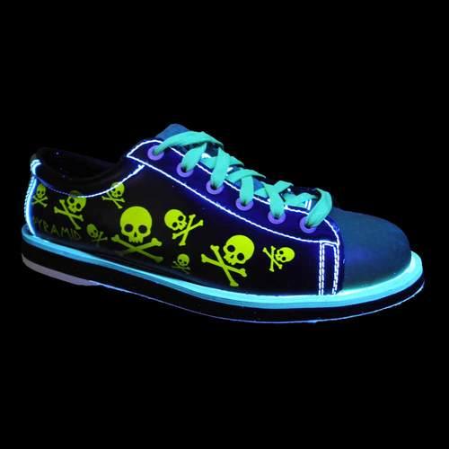 5f1781caa6 Pyramid Men s Skull Black Green Bowling Shoes FREE SHIPPING