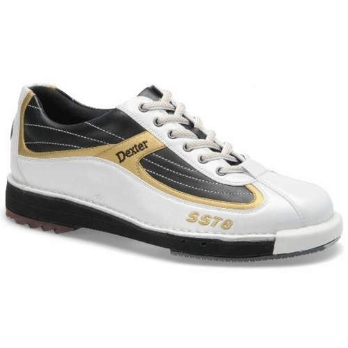 Dexter Mens SST 8 White/Black/Gold 8 9 11.5 Only Bowling Shoes ...