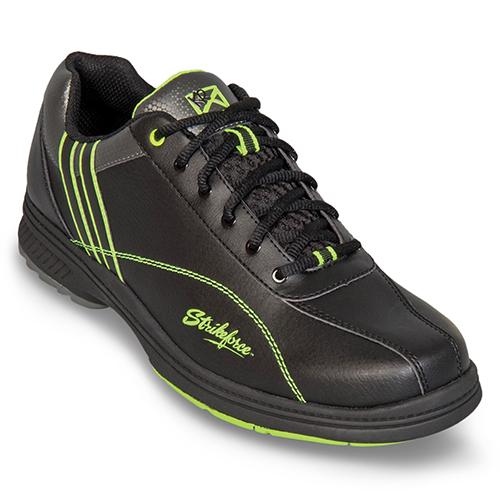 KR Strikeforce Mens Raptor Black Lime Bowling Shoes Right Hand Only