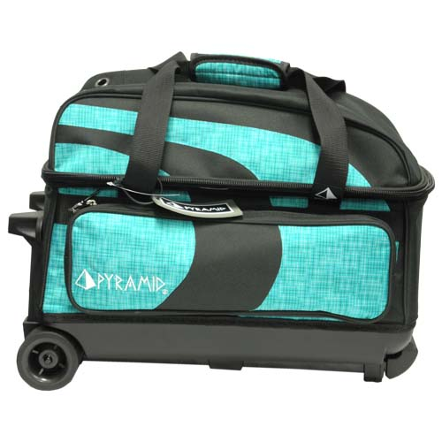 Pyramid Path Deluxe Double Roller Black Teal Circuit Bowling Bags Free Shipping