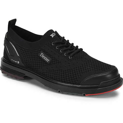 Dexter Mens The 9 HT Bowling Shoes Black//Red//Grey Size 7.0 DXDP0000192 070