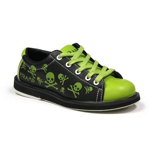 Pyramid Youth Skull Green/Black Bowling Shoes FREE SHIPPING